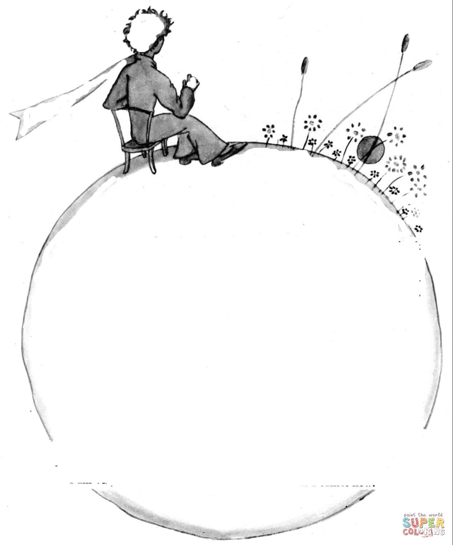 Ausmalbild: Der Kleine Prinz Auf Dem Planeten | Ausmalbilder verwandt mit Der Kleine Prinz Bilder Zum Ausmalen