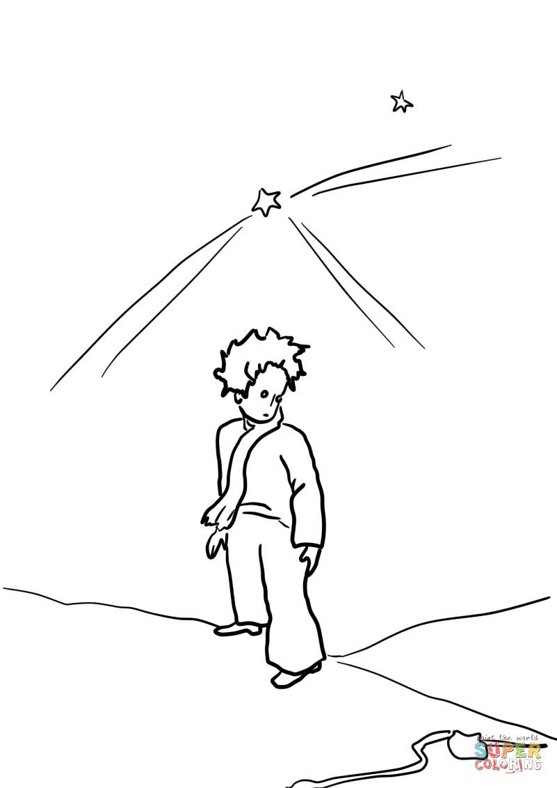 Ausmalbild: Der Kleine Prinz Auf Der Erde | Ausmalbilder über Der Kleine Prinz Bilder Zum Ausmalen