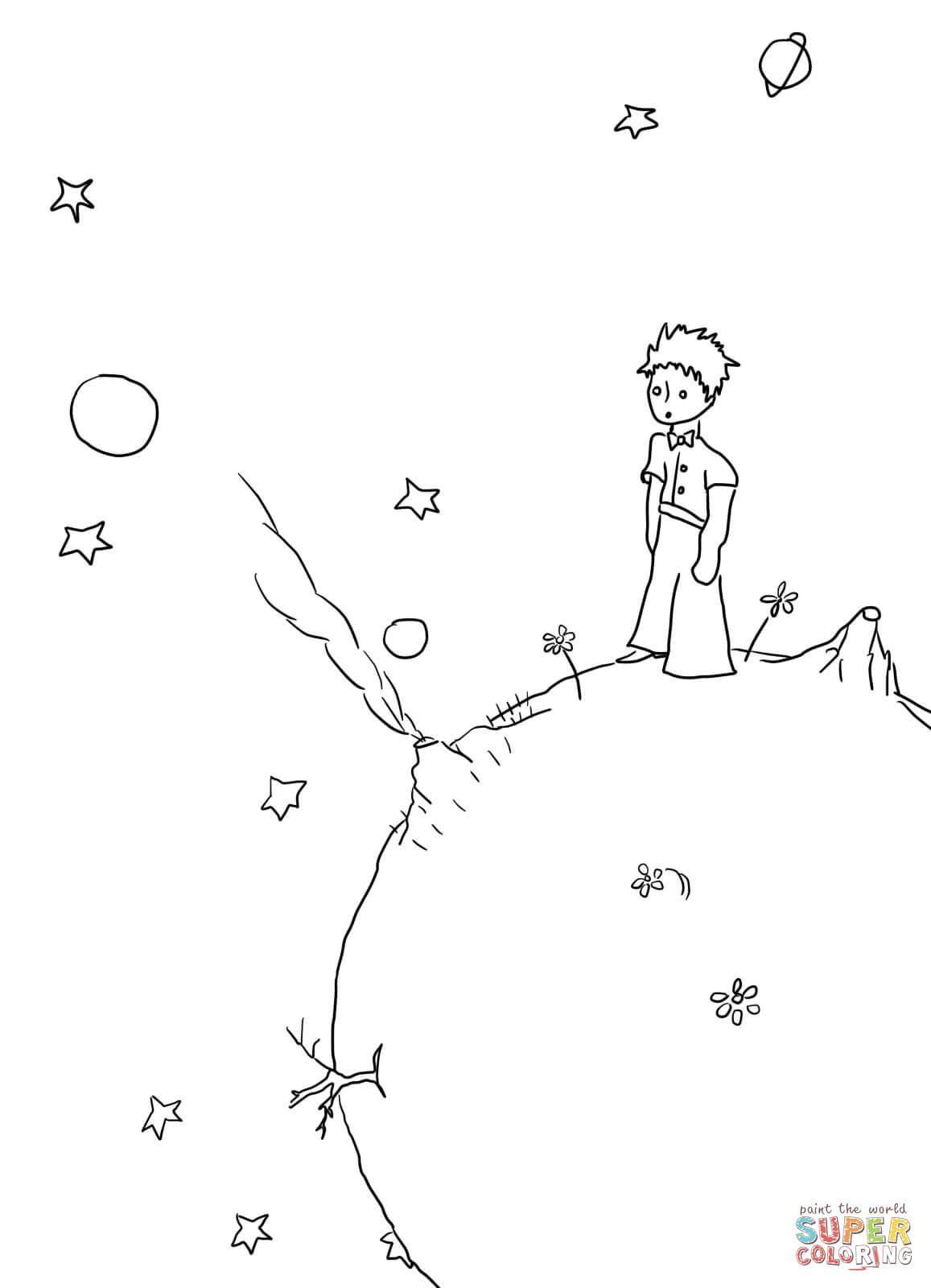 Ausmalbild: Der Kleine Prinz, Manuskripte. Kategorien: Der über Der Kleine Prinz Bilder Zum Ausmalen
