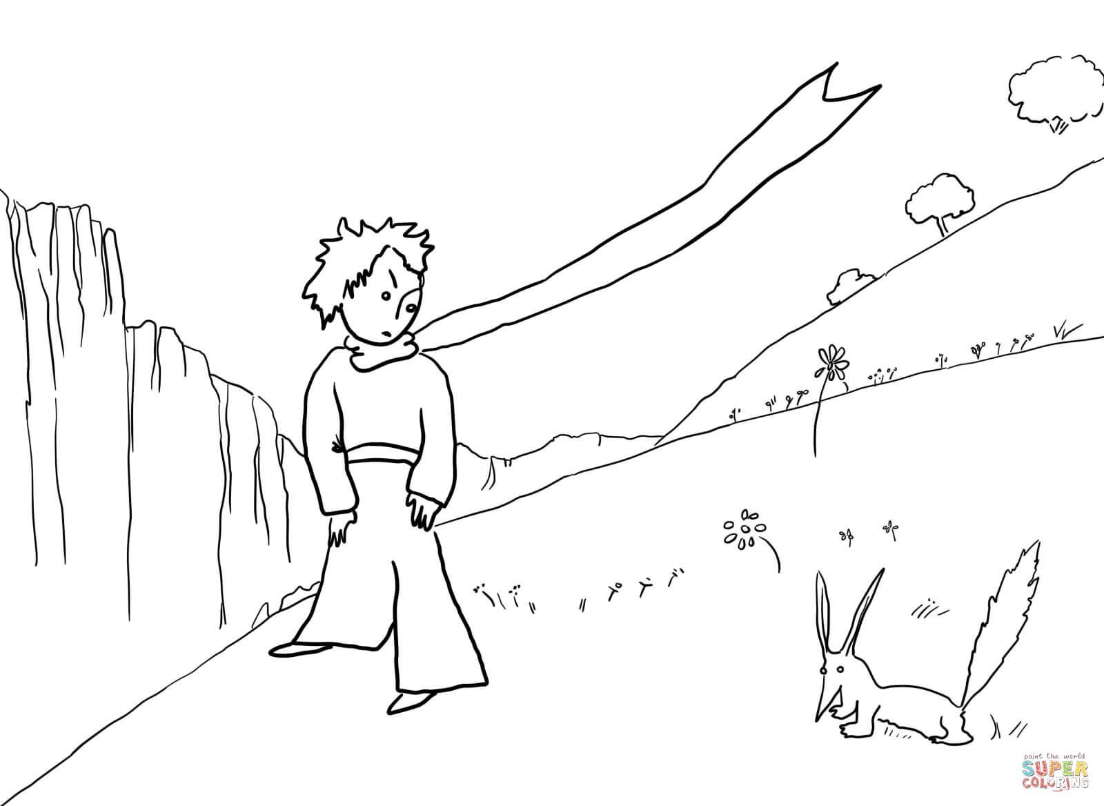 Ausmalbild: Der Kleine Prinz Trifft Den Fuchs. Kategorien über Der Kleine Prinz Bilder Zum Ausmalen