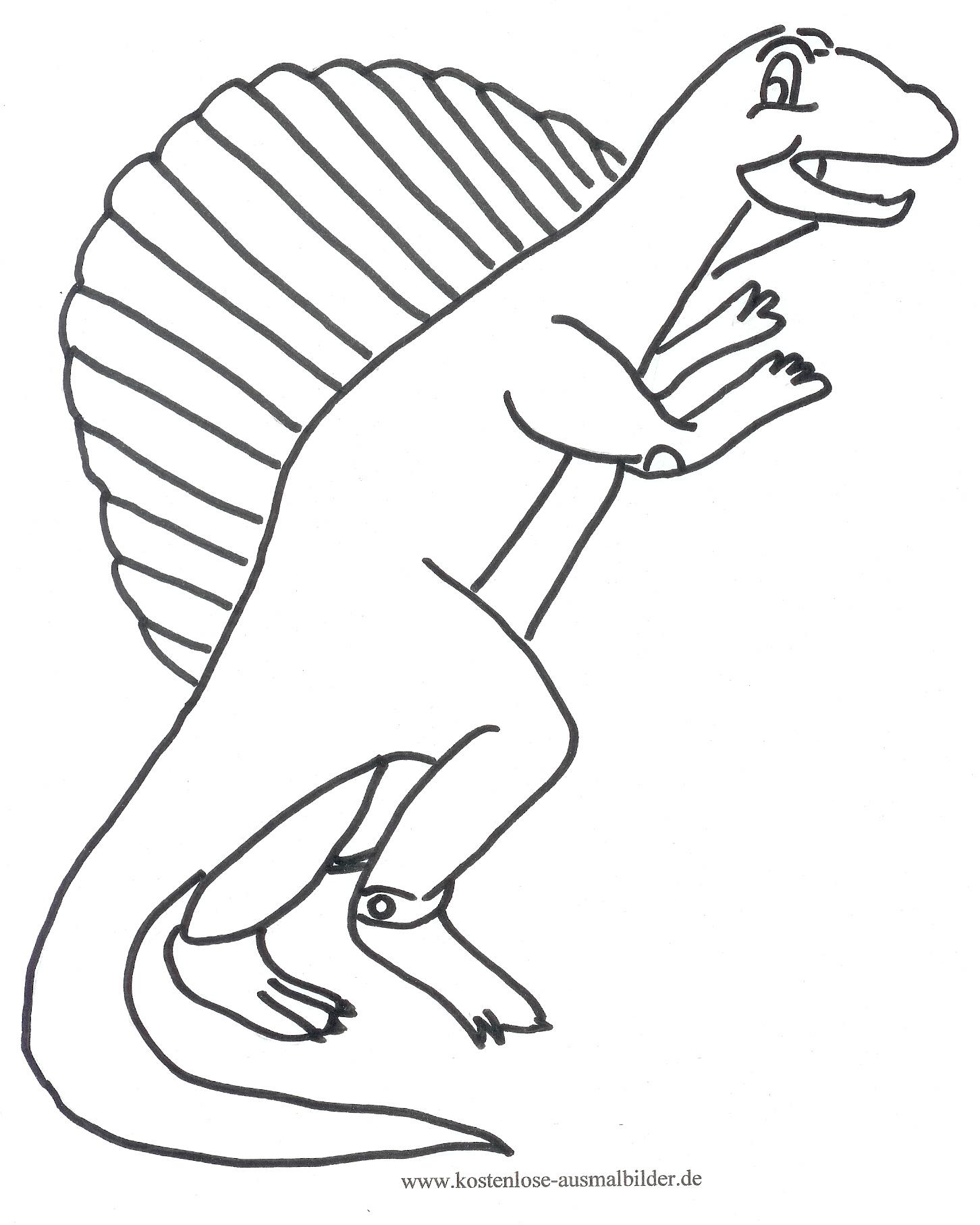 Ausmalbild Dino 1 Zum Ausdrucken über Dino Ausmalbild