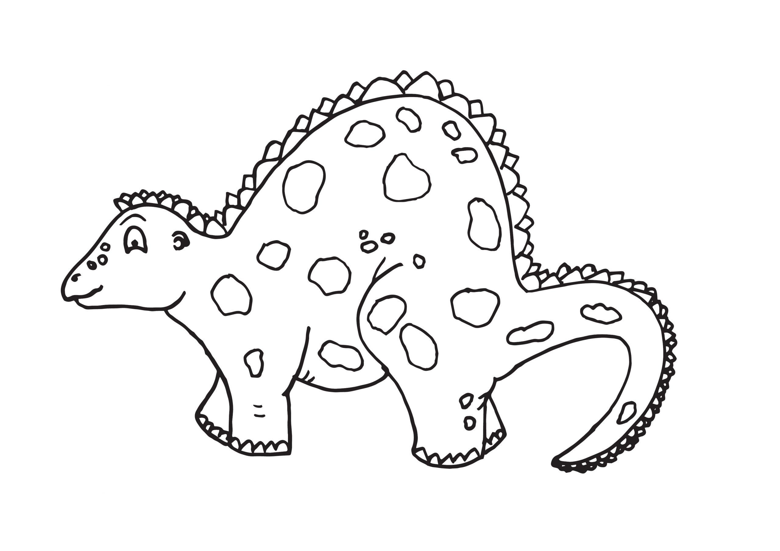 Ausmalbild Dinosaurier - Kostenlose Malvorlagen mit Dino Ausmalbild