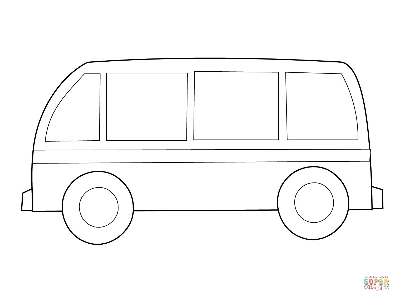 Ausmalbild: Einfacher Bus | Ausmalbilder Kostenlos Zum verwandt mit Ausmalbild Bus
