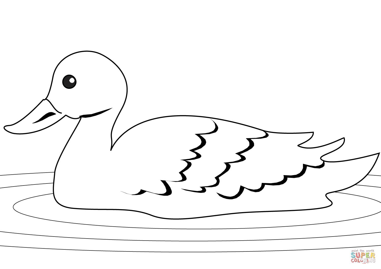 Ausmalbild: Ente Im Schilf | Ausmalbilder Kostenlos Zum in Ausmalbilder Ente