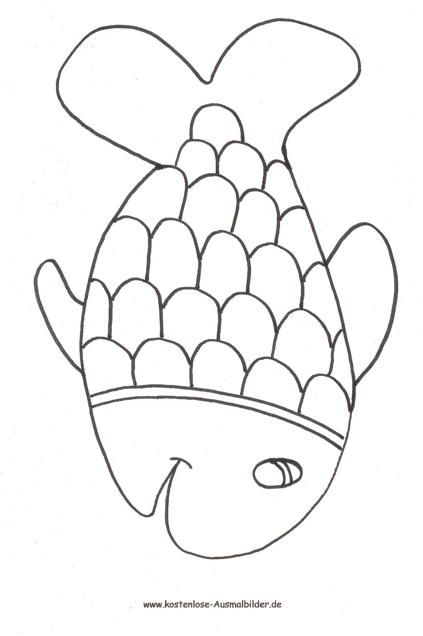 Ausmalbild Fisch 1 Zum Ausdrucken verwandt mit Fisch Ausmalen