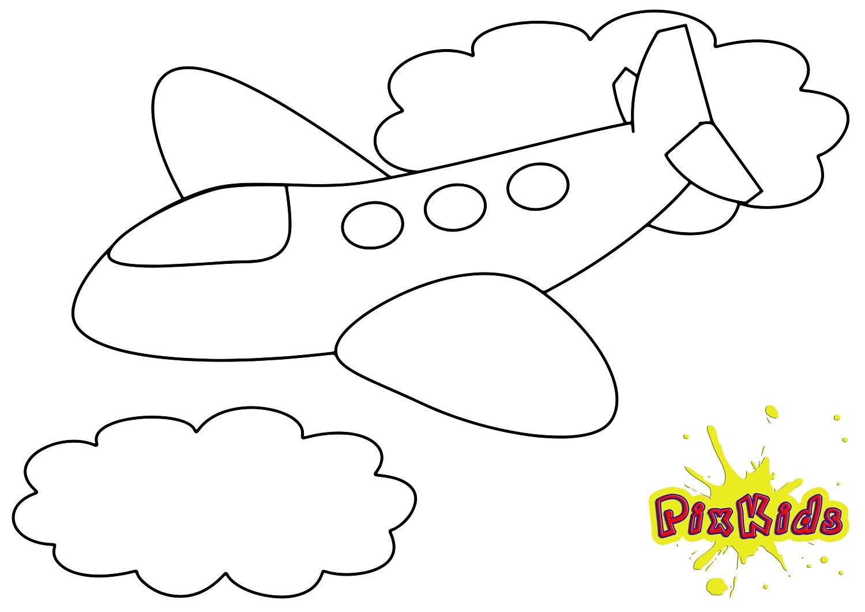 Ausmalbild Flugzeug - Kostenlose Malvorlage in Flugzeug Zum Ausmalen