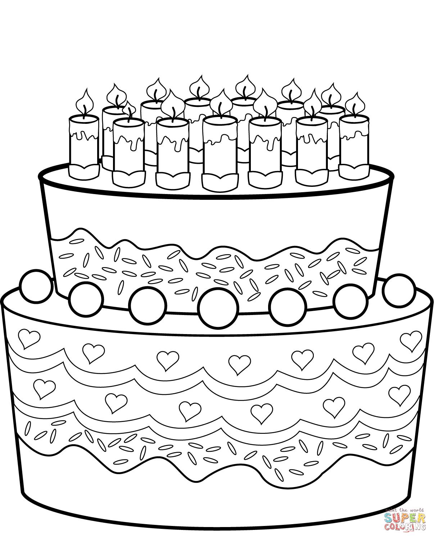 kuchen ausmalbild - kinderbilder.download | kinderbilder