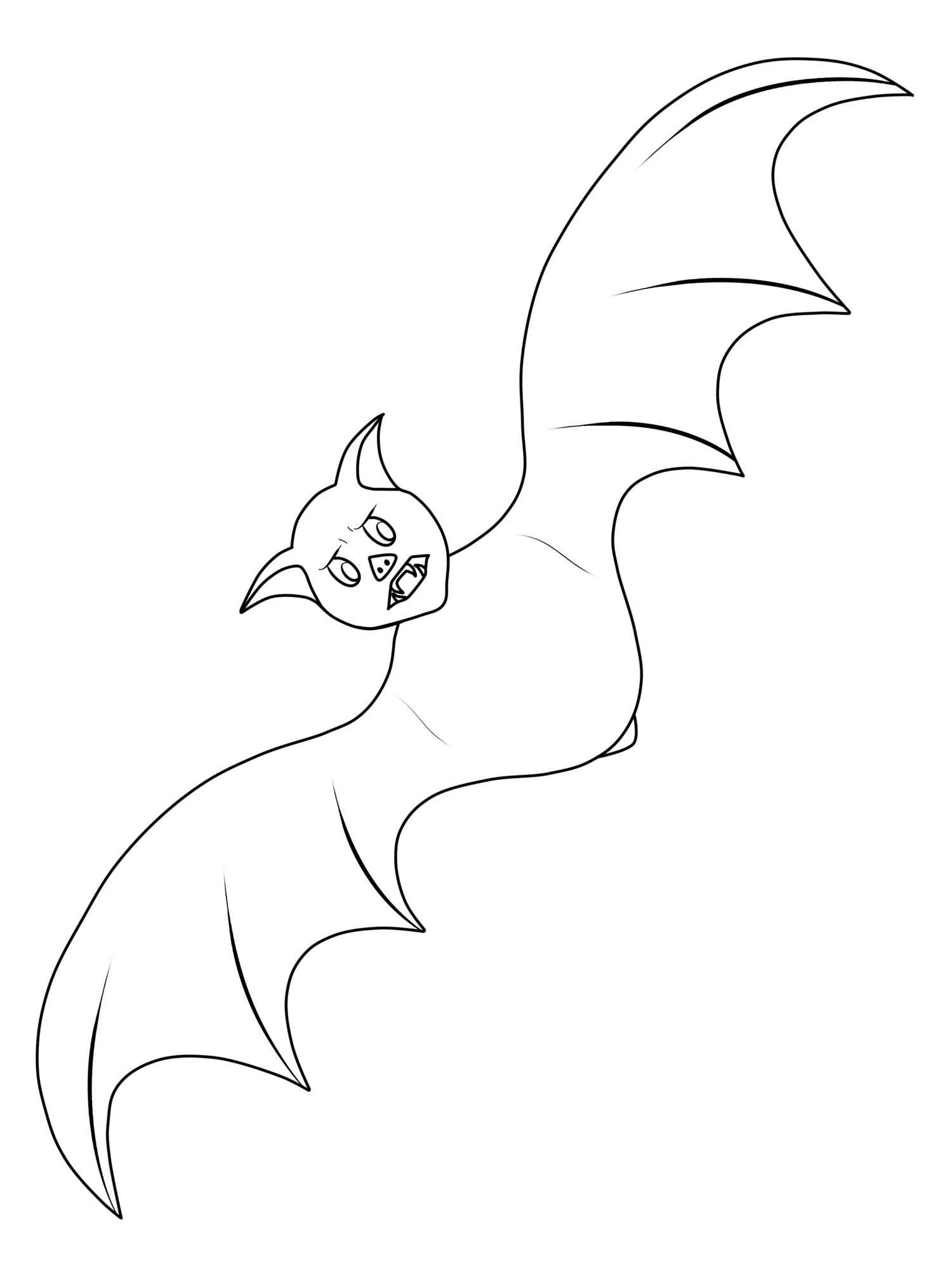Ausmalbild Halloween: Fledermaus Ausmalen Kostenlos Ausdrucken bestimmt für Fledermaus Zum Ausmalen