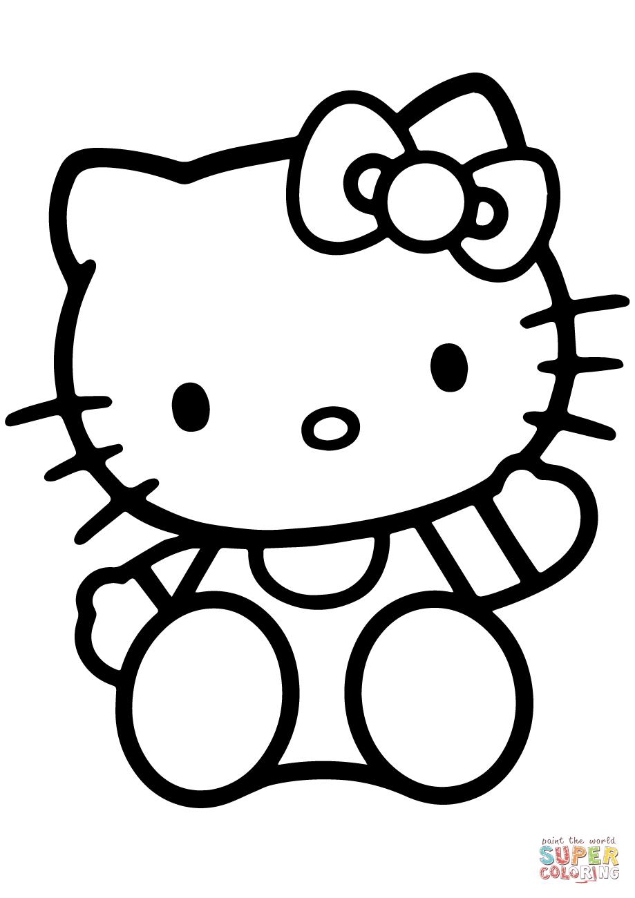Ausmalbild: Hello Kitty | Ausmalbilder Kostenlos Zum Ausdrucken bei Hello Kitty Kostenlos