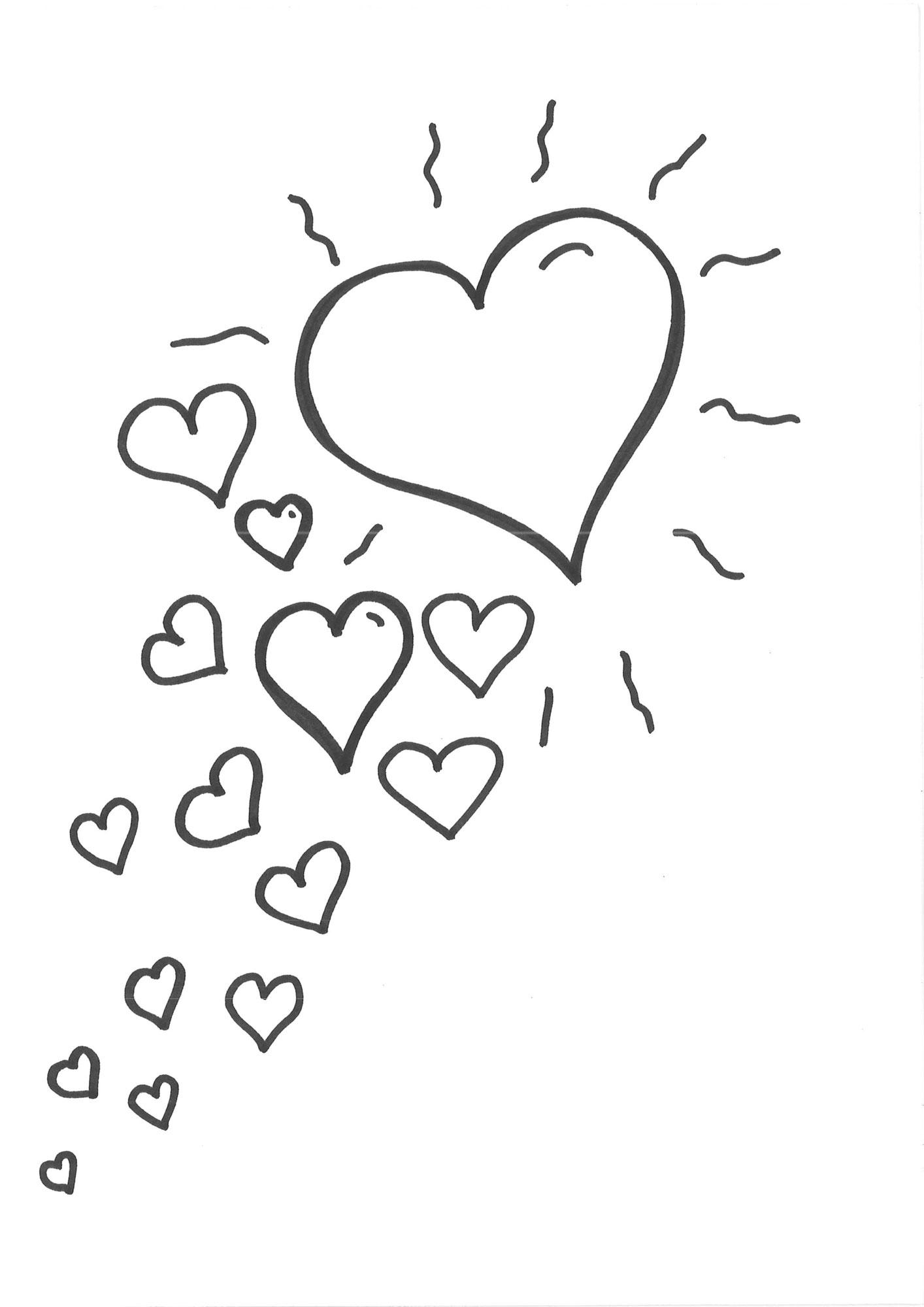 Ausmalbild Herzen: Malvorlage Herzen Kostenlos Ausdrucken verwandt mit Malvorlage Herz