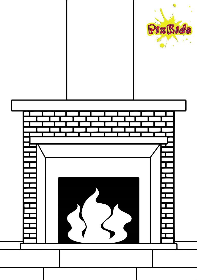 Ausmalbild Kamin - Kostenlose Malvorlage bestimmt für Ausmalbilder Schornsteinfeger Kostenlos