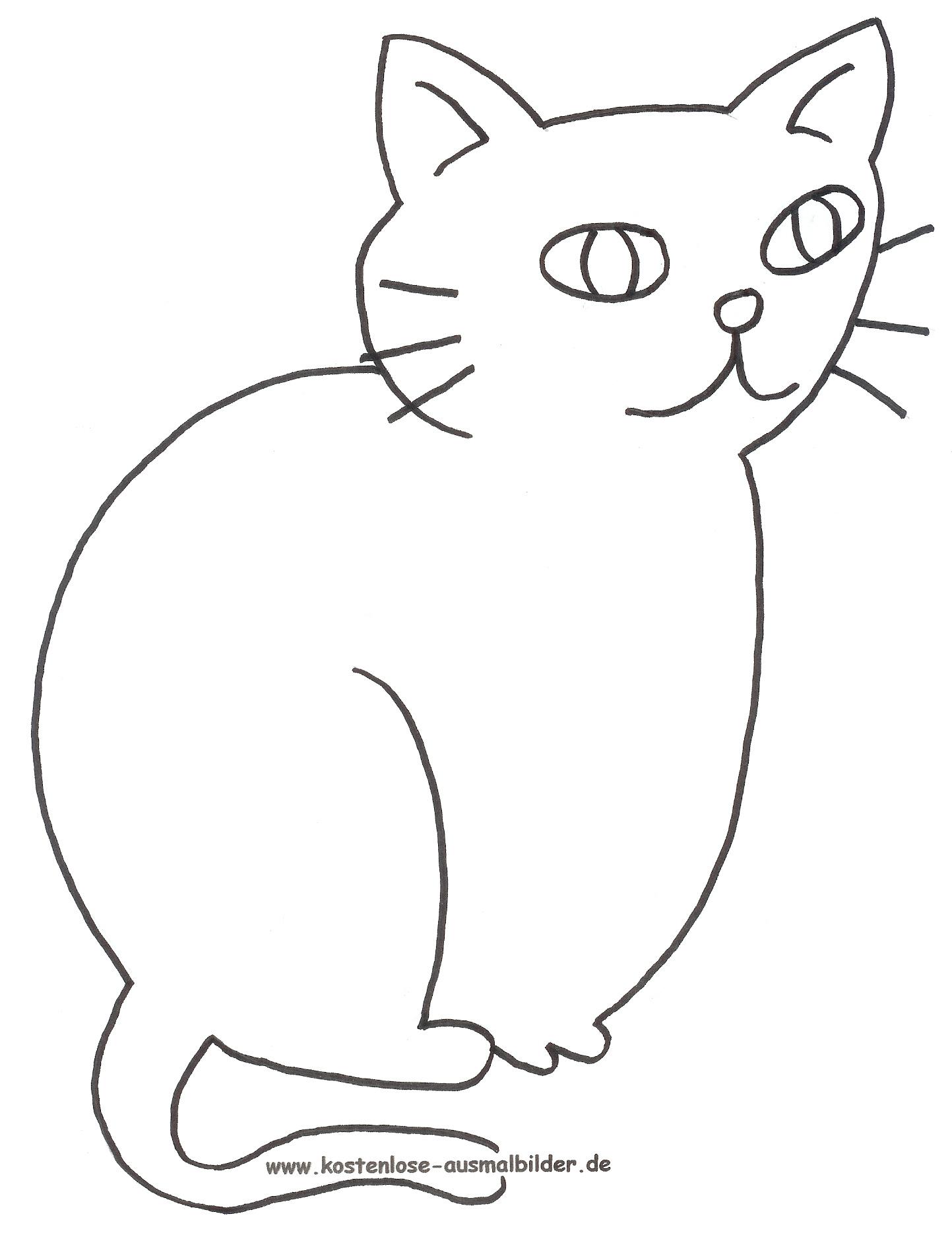 Ausmalbild Katze Zum Ausdrucken mit Ausmalbilder Katzen Kostenlos