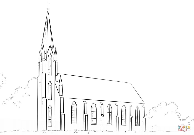 Ausmalbild: Kirche | Ausmalbilder Kostenlos Zum Ausdrucken bei Ausmalbild Kirche