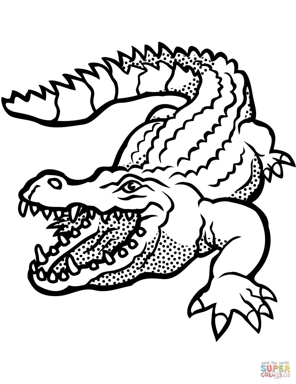 Ausmalbild: Krokodil Mit Offenem Rachen | Ausmalbilder über Krokodil Zum Ausmalen