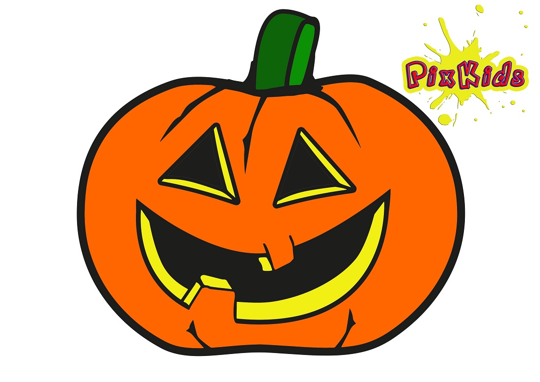 Ausmalbild Kürbis Halloween - Kostenlose Malvorlage verwandt mit Kürbis Bilder Kostenlos