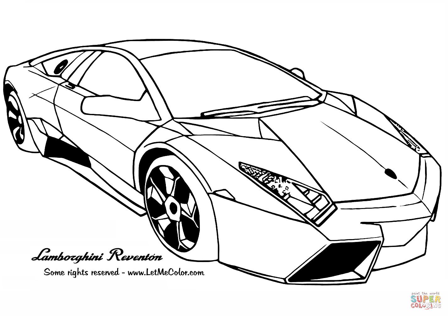 Ausmalbild: Lamborghini Reventon | Ausmalbilder Kostenlos über Malvorlagen Lamborghini