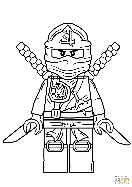 Ausmalbild: Lego Ninjago Green Ninja | Ausmalbilder in Ninjago Ausmalbilder Kostenlos Drucken