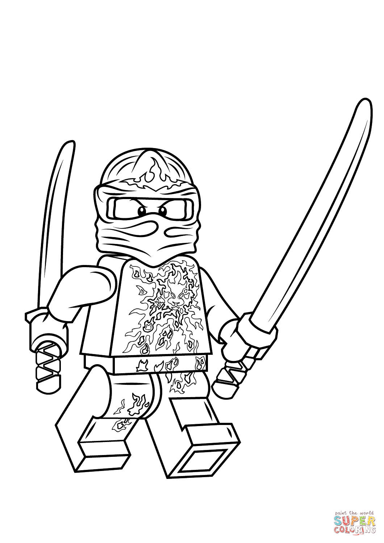 Ausmalbild: Lego Ninjago Kai Nrg. Kategorien: Lego Ninjago bei Ninjago Malen