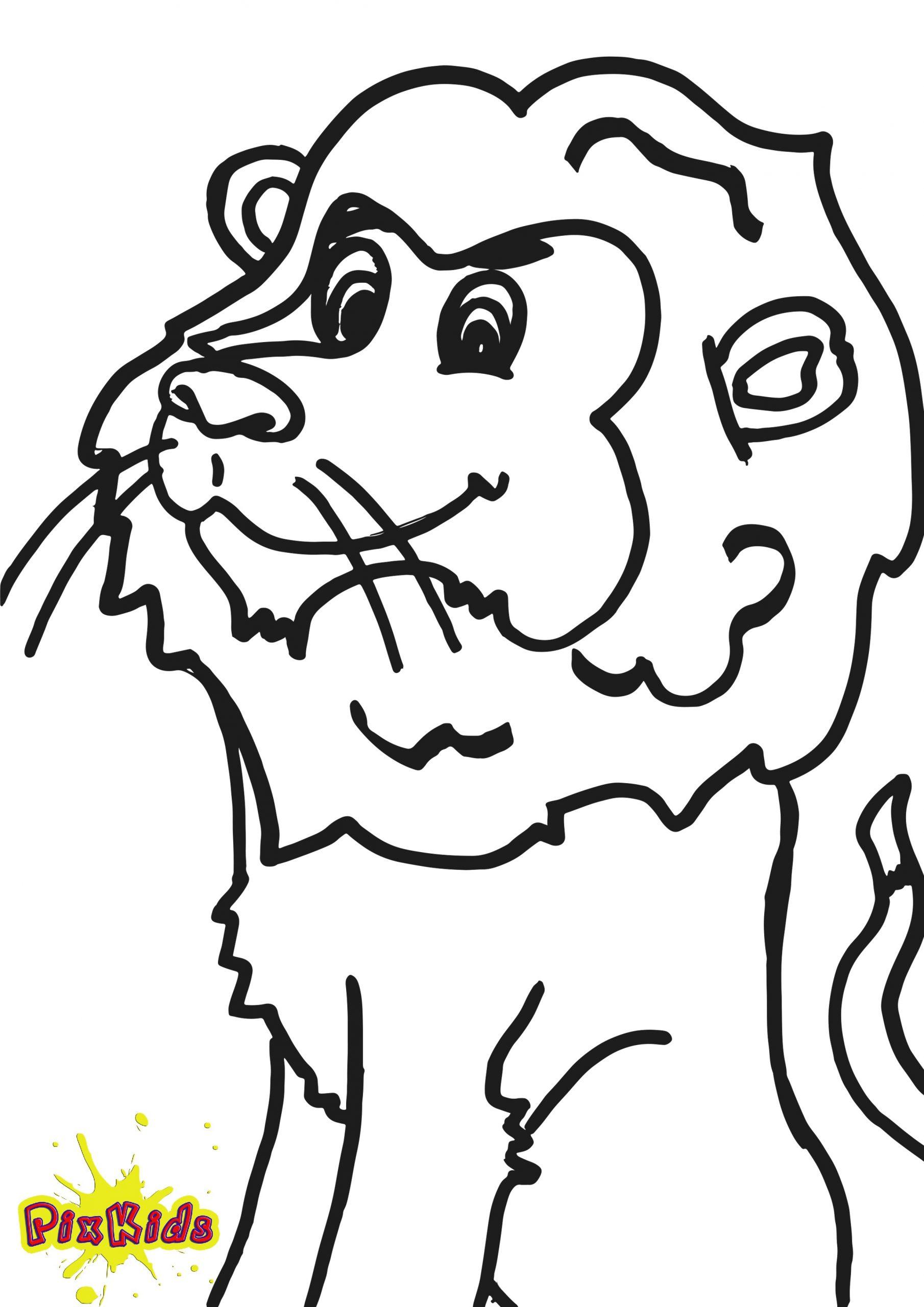 Ausmalbild Löwe - Kostenlose Malvorlagen für Ausmalbild Löwe