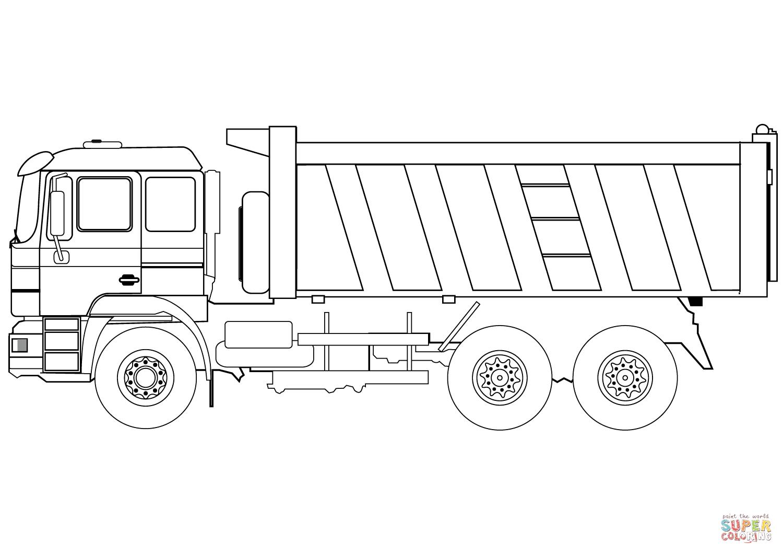 ausmalbilder lastwagen  kinderbilderdownload