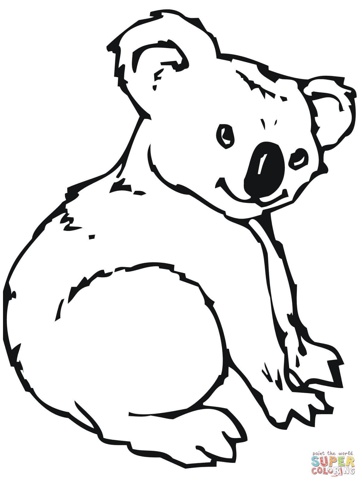 Ausmalbild: Niedlicher Koala | Ausmalbilder Kostenlos Zum bestimmt für Malvorlage Koala