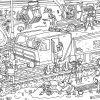 Ausmalbild - Oli Auf Der Baustelle | Olis Bahnwelt innen Baustelle Ausmalbilder