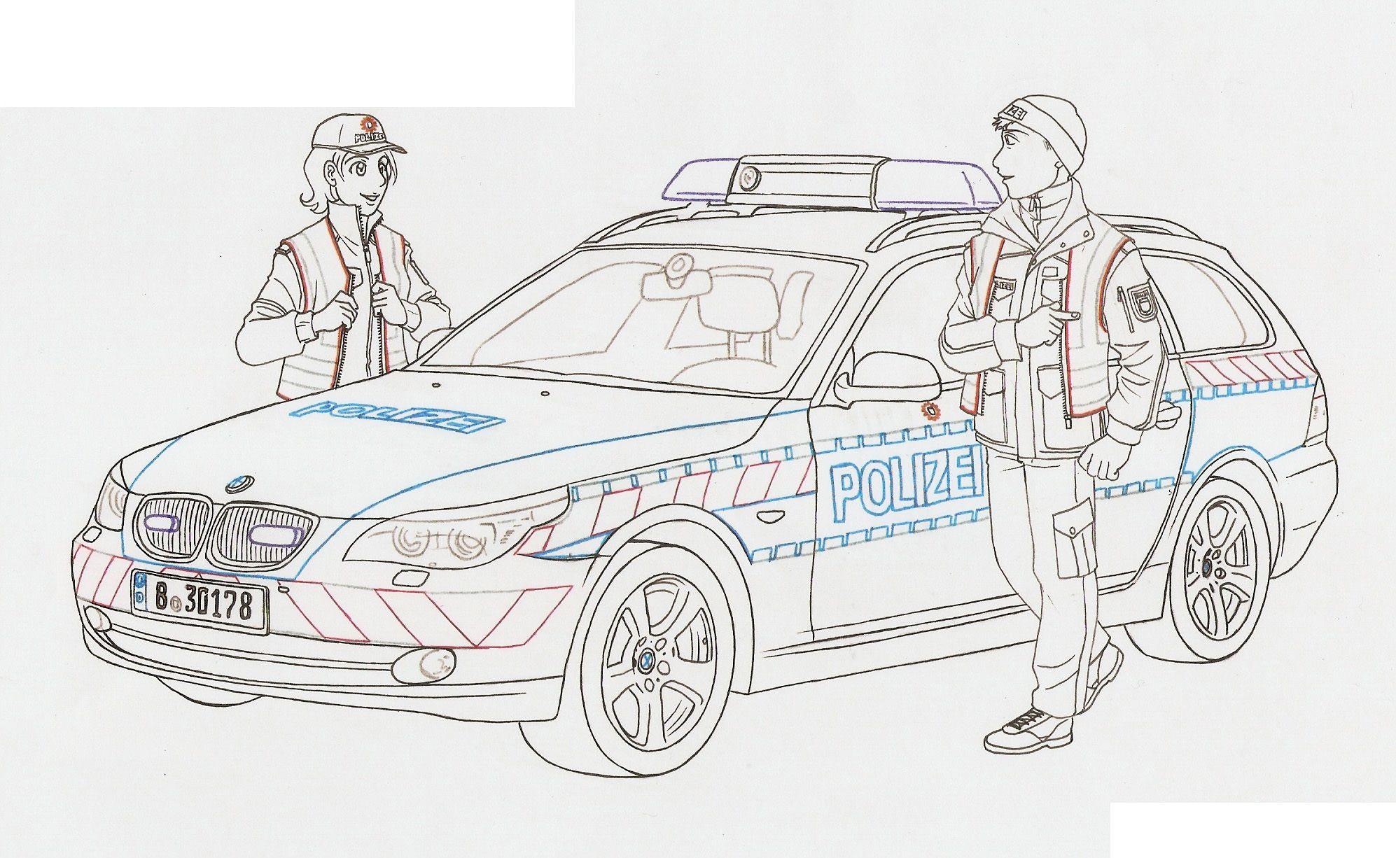 polizeiauto ausmalbild  kinderbilderdownload