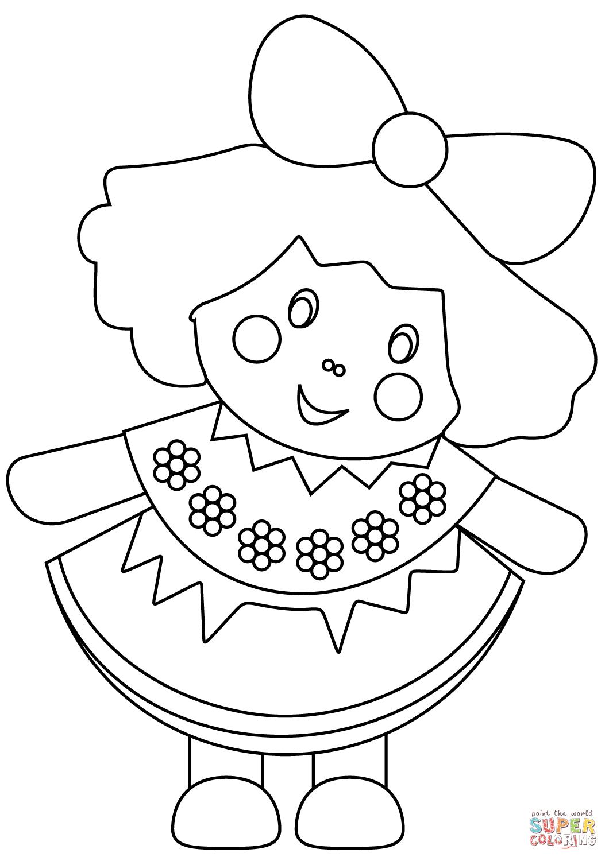 Ausmalbild: Puppe | Ausmalbilder Kostenlos Zum Ausdrucken für Ausmalbilder Puppe