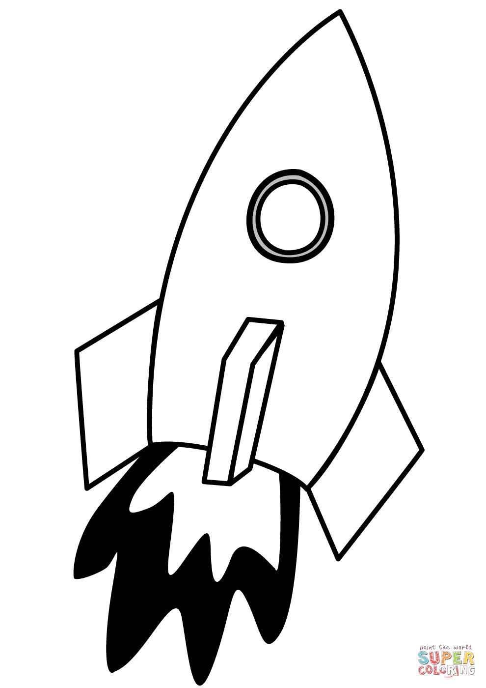 Ausmalbild: Rakete | Ausmalbilder Kostenlos Zum Ausdrucken verwandt mit Vorlage Rakete Malen