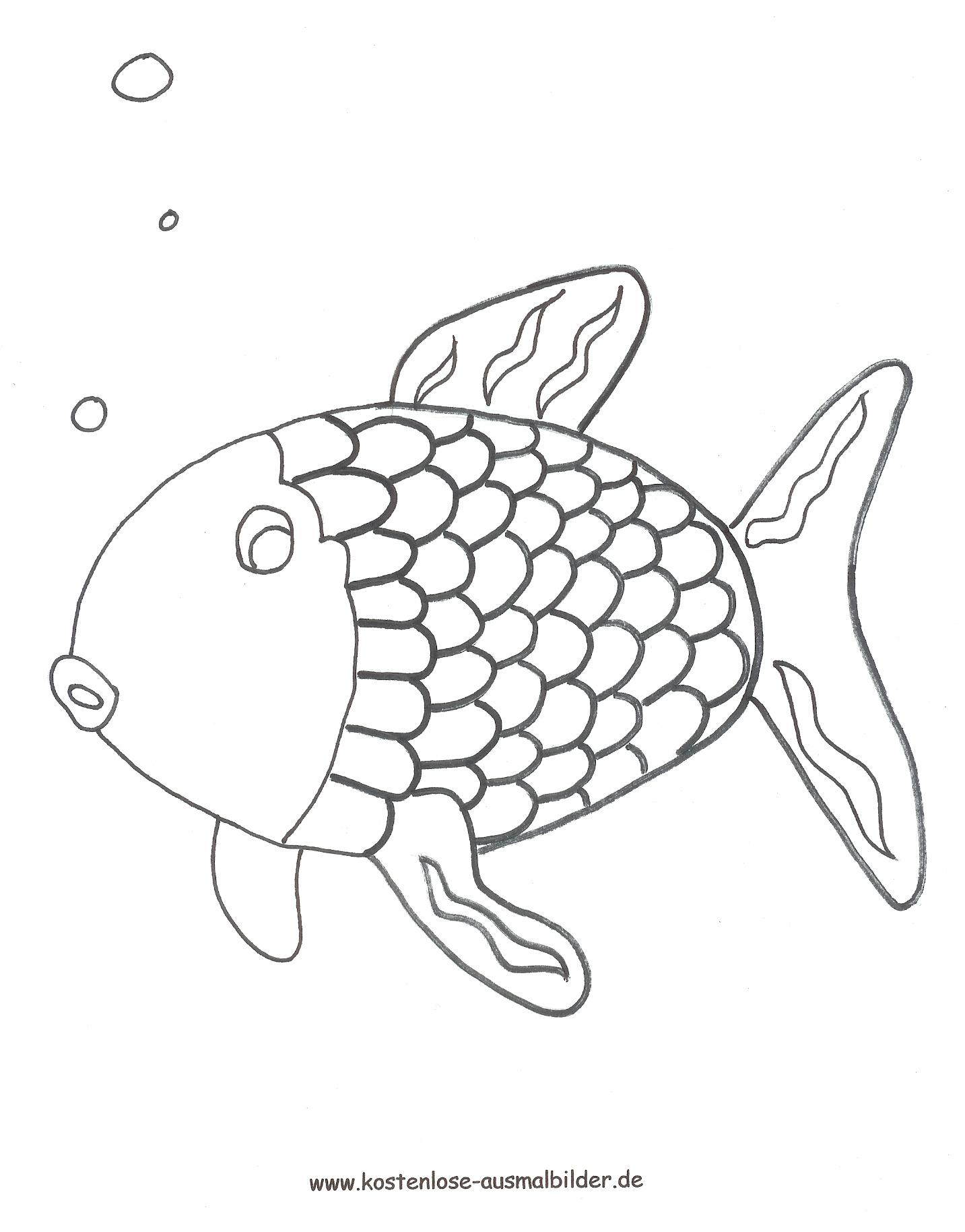 Ausmalbild Regenbogenfisch Zum Ausdrucken ganzes Fisch Ausmalen