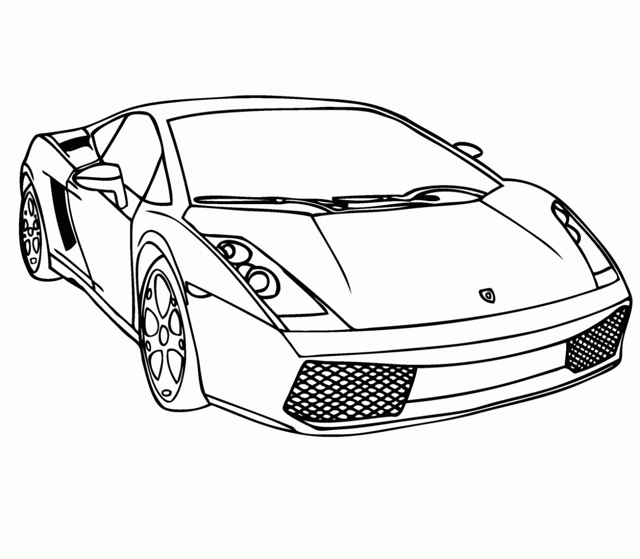Ausmalbild Rennauto | Malvorlage Auto, Ausmalbilder Zum in Malvorlagen Lamborghini