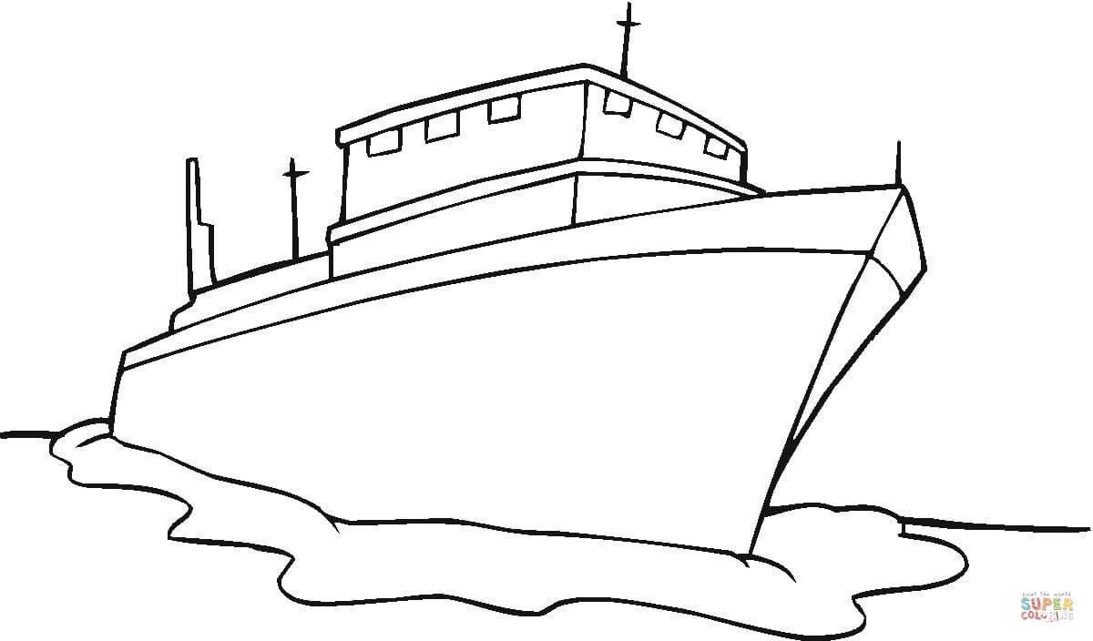 Ausmalbild: Schiff | Ausmalbilder Kostenlos Zum Ausdrucken ganzes Ausmalbild Schiff
