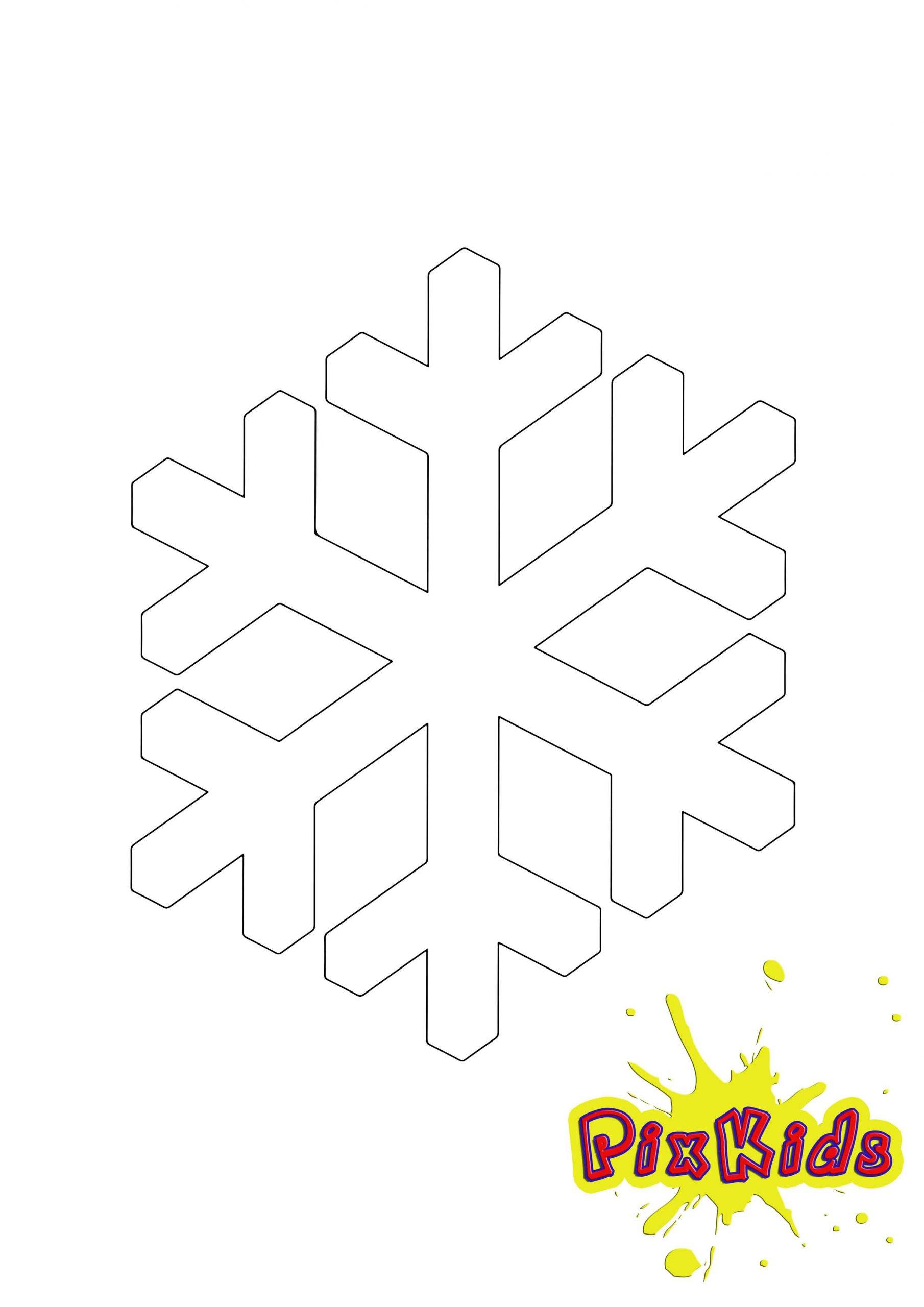 Ausmalbild Schneeflocke - Kostenlose Malvorlage bestimmt für Schneeflocken Vorlagen Zum Ausschneiden