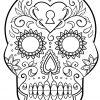 Ausmalbild: Tag Der Toten Zuckerschädel. Kategorien: Tag Der bei Totenkopf Bilder Zum Ausmalen