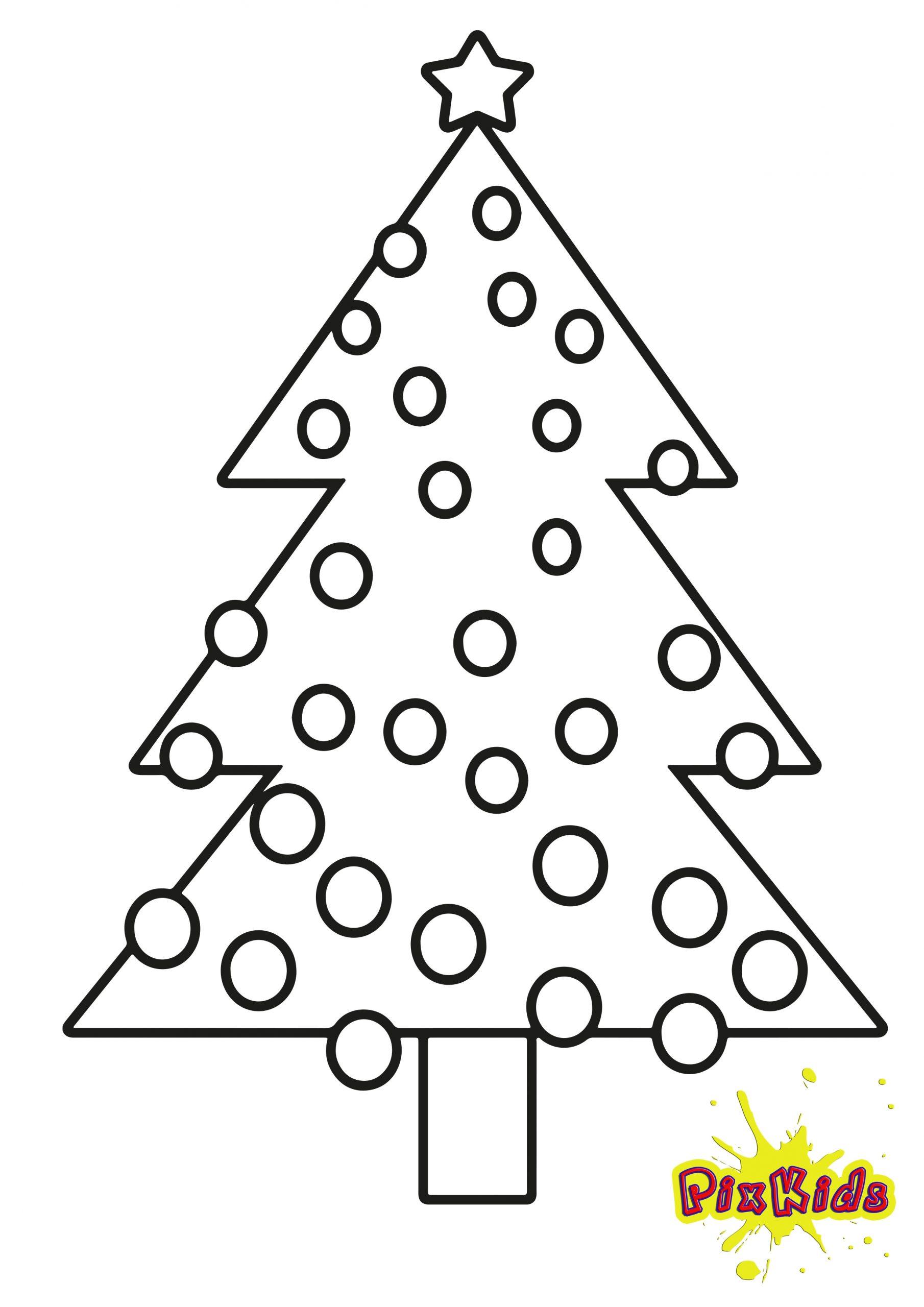 Ausmalbild Tannenbaum Weihnachtsbaum - Kostenlose Malvorlagen ganzes Weihnachtsbaum Malvorlage
