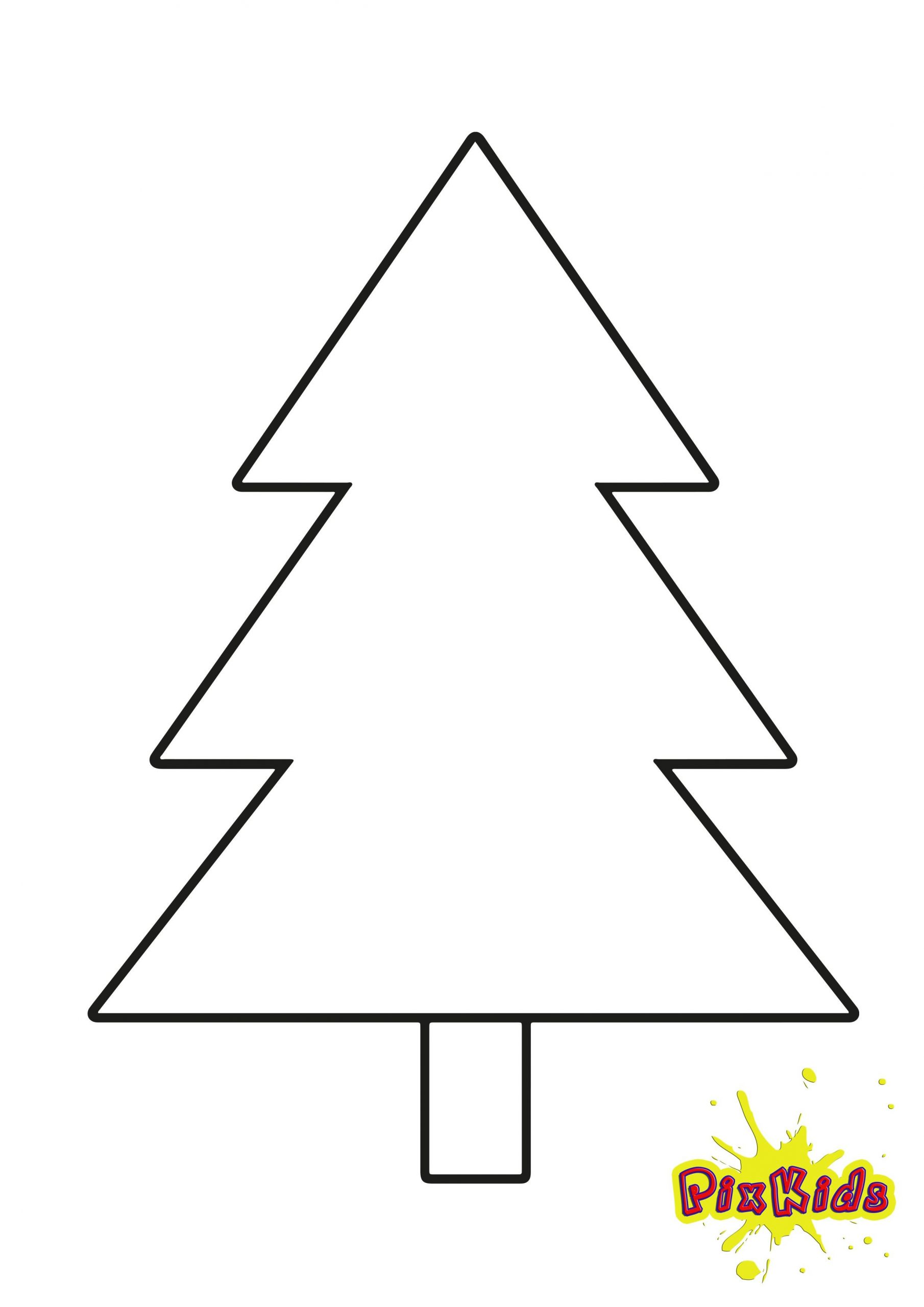 Ausmalbild Tannenbaum Weihnachtsbaum (Mit Bildern in Bastelvorlagen Weihnachten Zum Ausdrucken Kostenlos