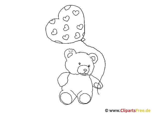 Ausmalbild Teddy Bär für Bären Bilder Zum Ausdrucken