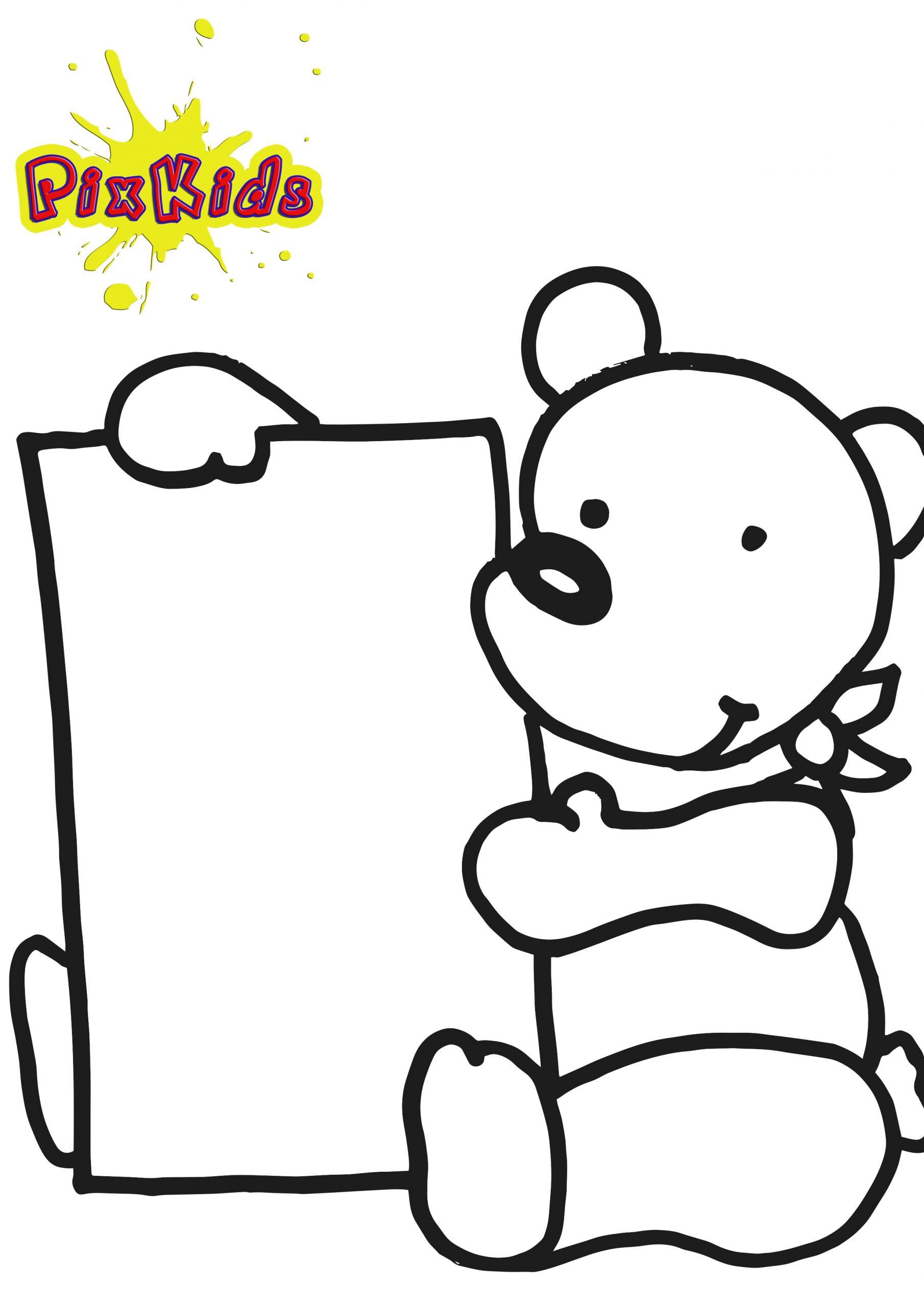 Ausmalbild Teddybär - Kostenlose Malvorlagen mit Teddybär Malvorlage