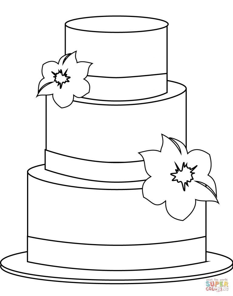 ausmalbild torte  ausmalbilder kostenlos zum ausdrucken