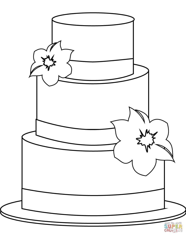 Ausmalbild: Torte | Ausmalbilder Kostenlos Zum Ausdrucken verwandt mit Ausmalbild Kuchen