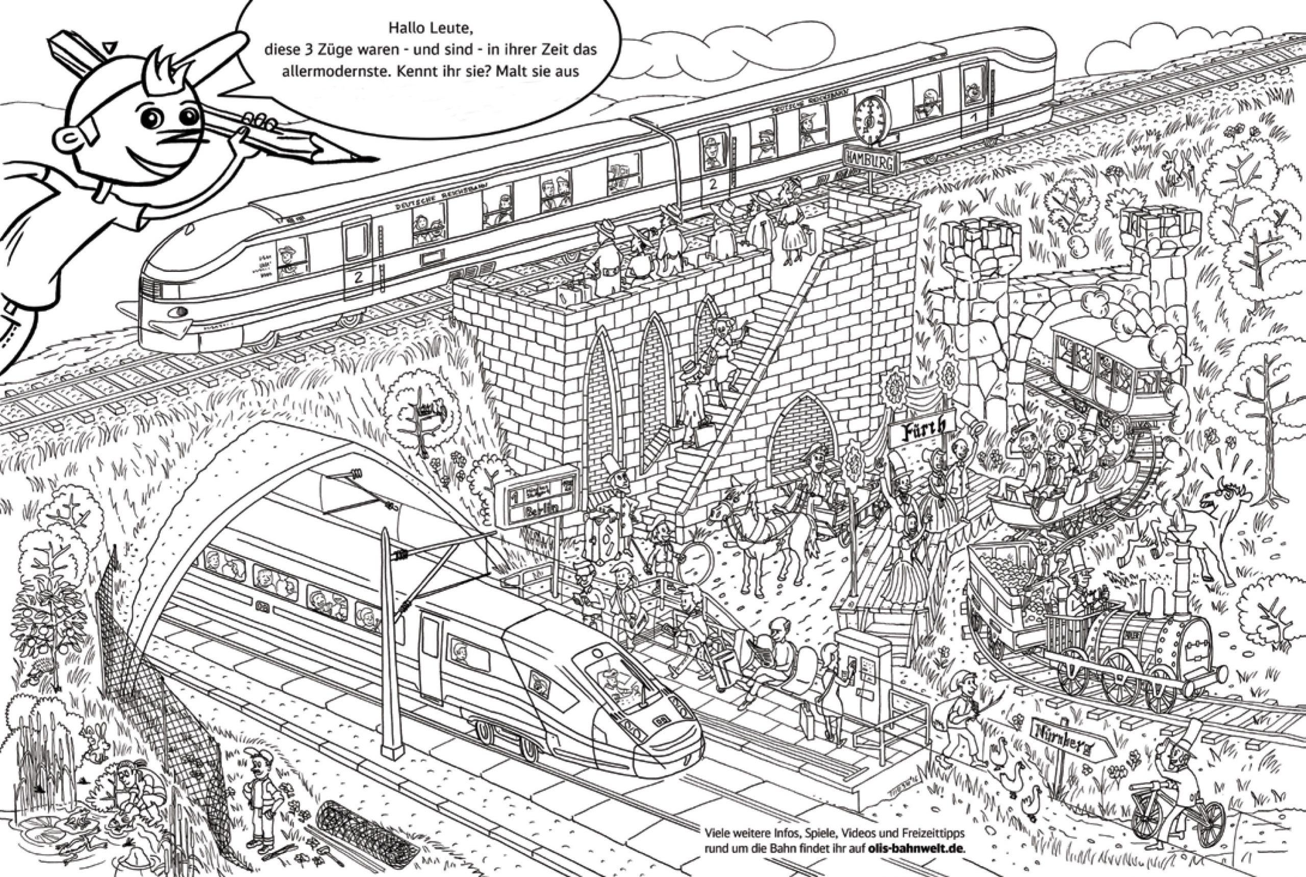 Ausmalbild - Vom Adler Zum Iceausmalbild - Vom Adler Zum Ice in Eisenbahn Ausmalbilder
