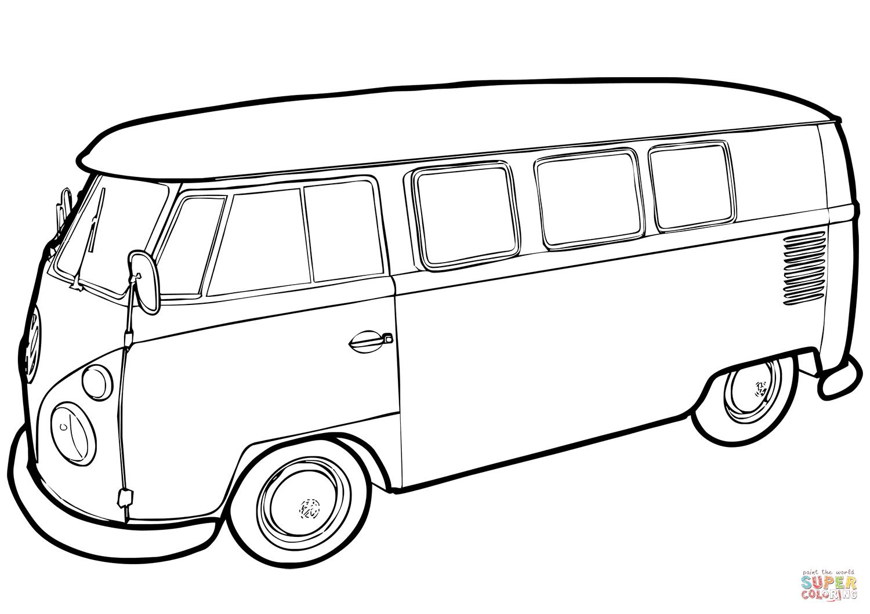 vw bus ausmalbild  kinderbilderdownload  kinderbilder