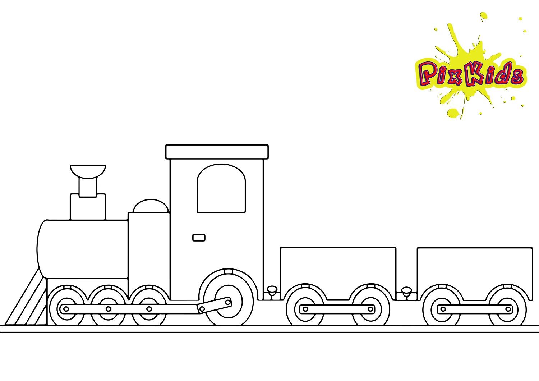 Ausmalbild Zug Eisenbahn - Kostenlose Malvorlagen bestimmt für Eisenbahn Ausmalbilder