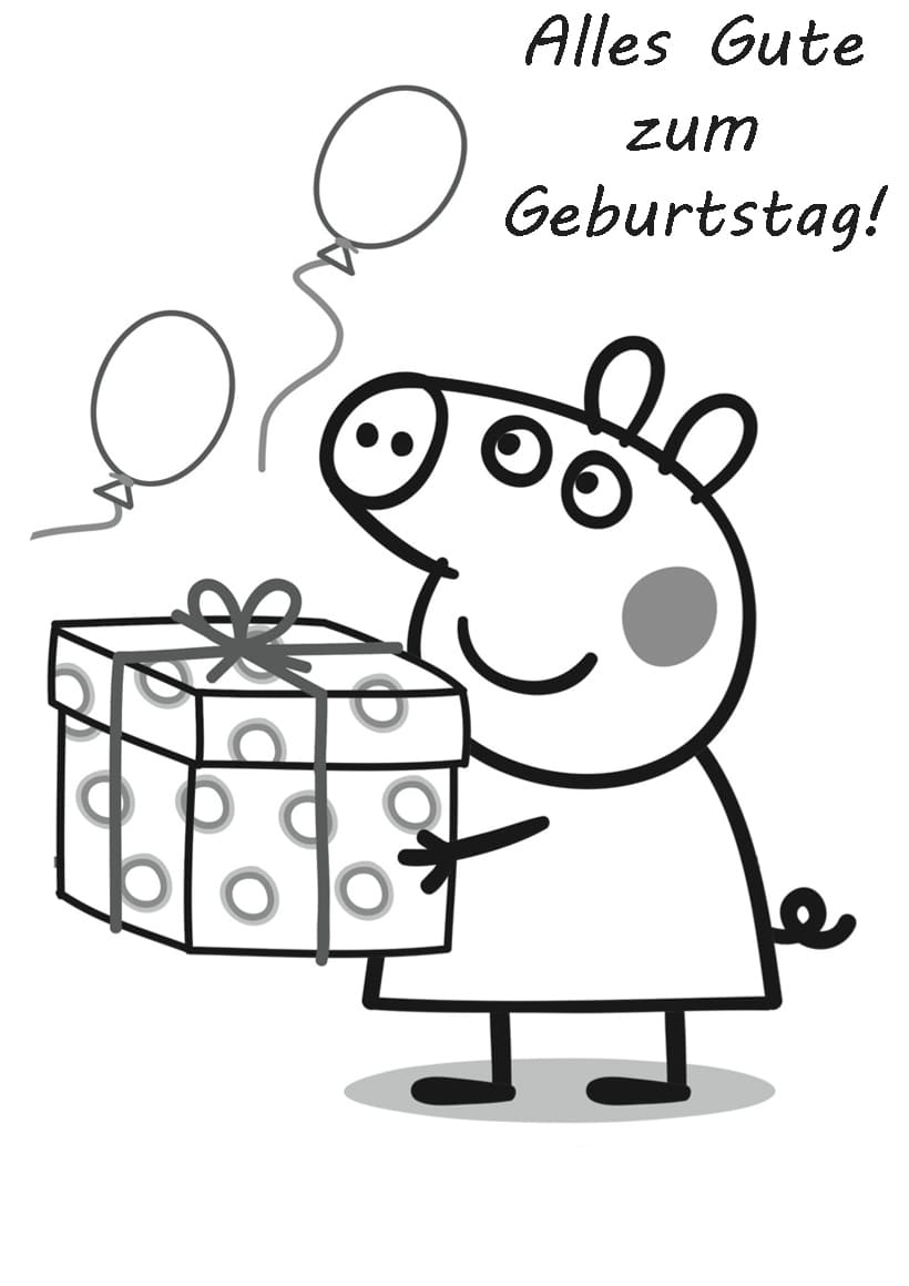 Ausmalbilder Alles Gute Zum Geburtstag. Drucken Sie Kostenlos innen Happy Birthday Ausmalbilder Kostenlos