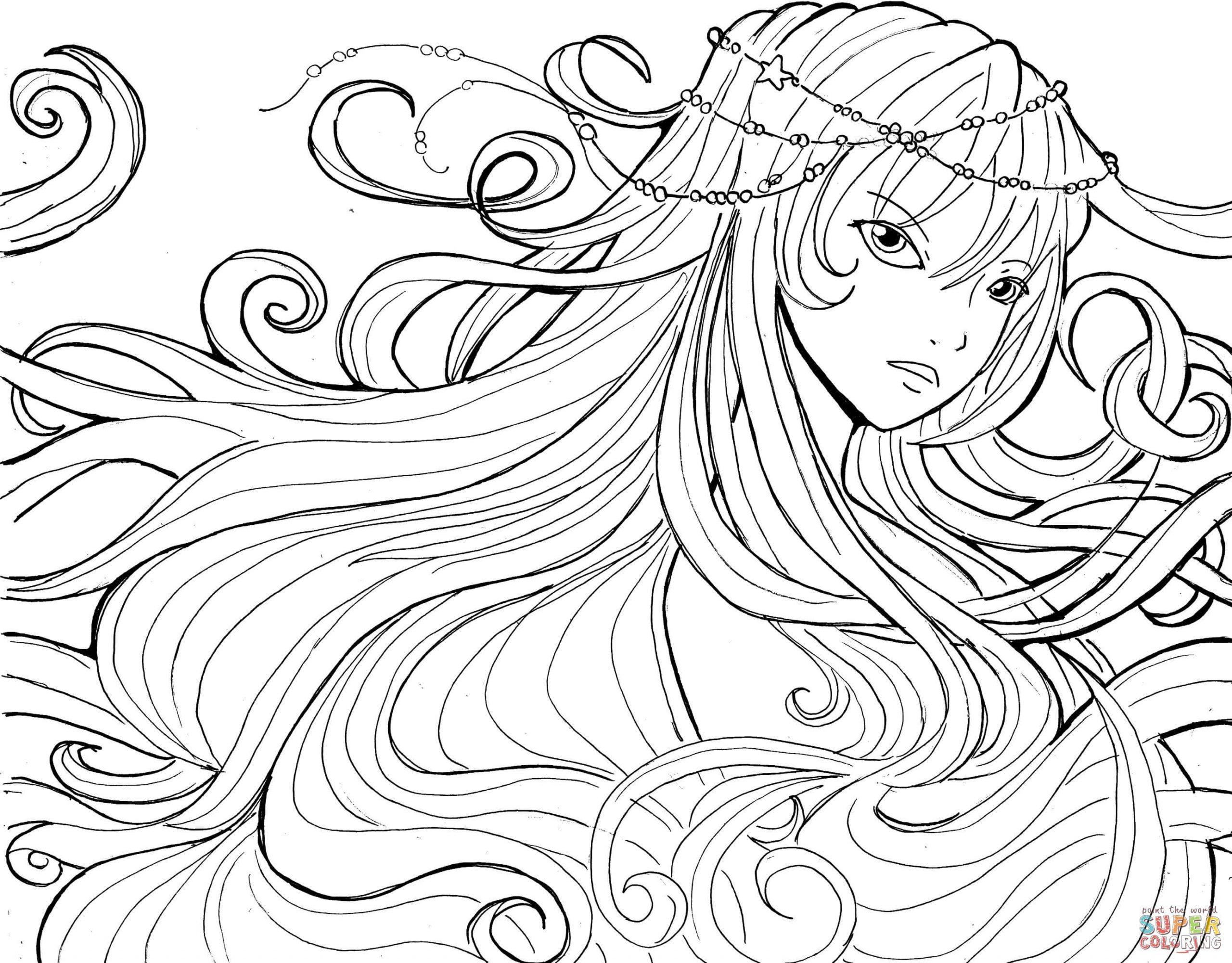 Ausmalbilder Anime Mädchen - Malvorlagen Kostenlos Zum innen Manga Bilder Zum Ausmalen