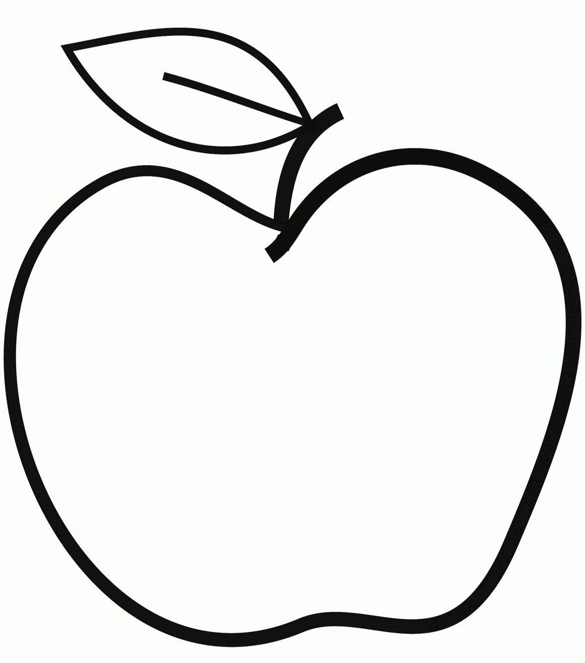 Ausmalbilder Apfel, Vordruck Apfel Schablonen Zum Ausdrucken für Schablonen Zum Ausdrucken Kostenlos