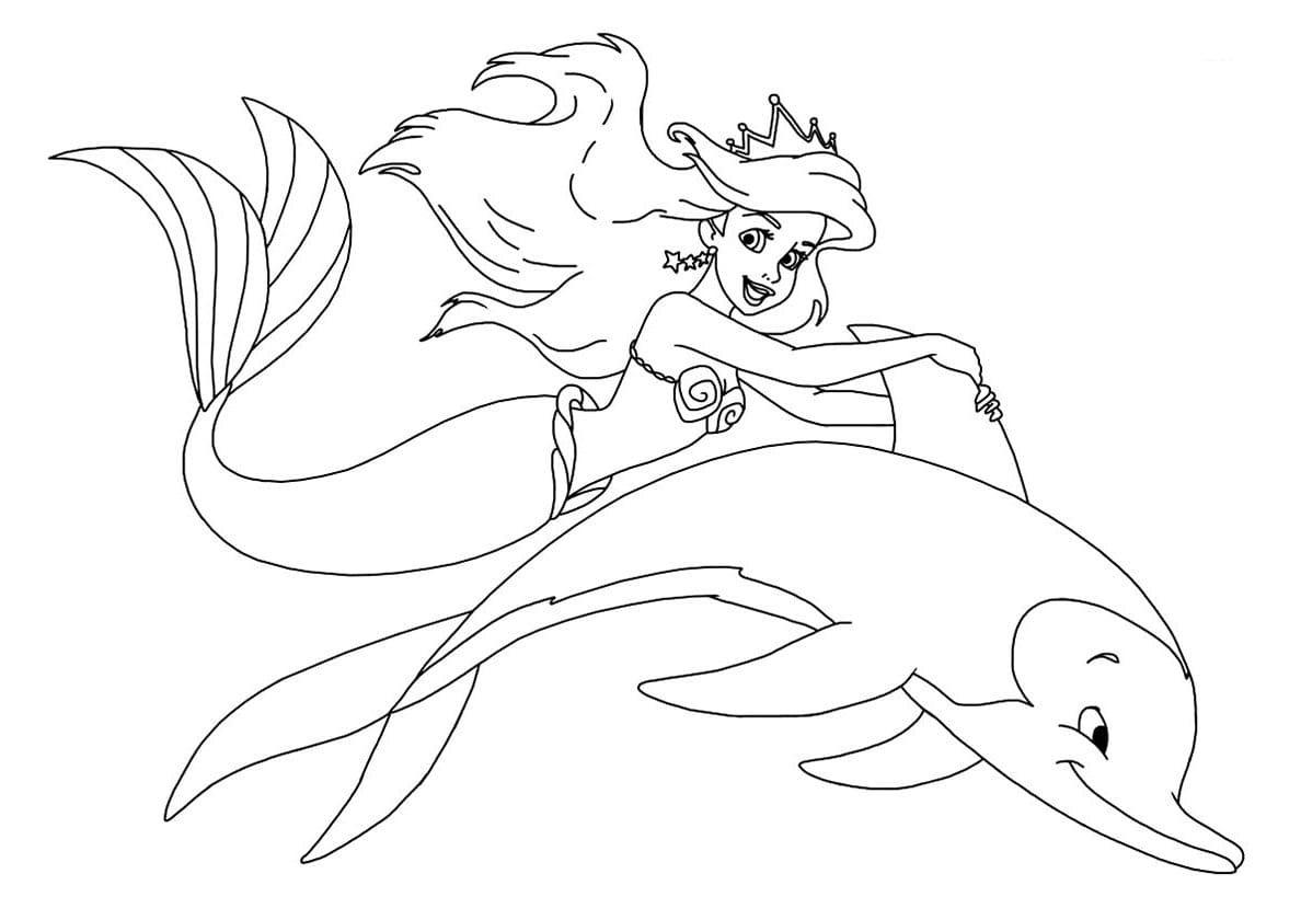 Ausmalbilder Arielle. Print Meerjungfrau, Die Schönsten Bilder über Meerjungfrau Ausmalbilder