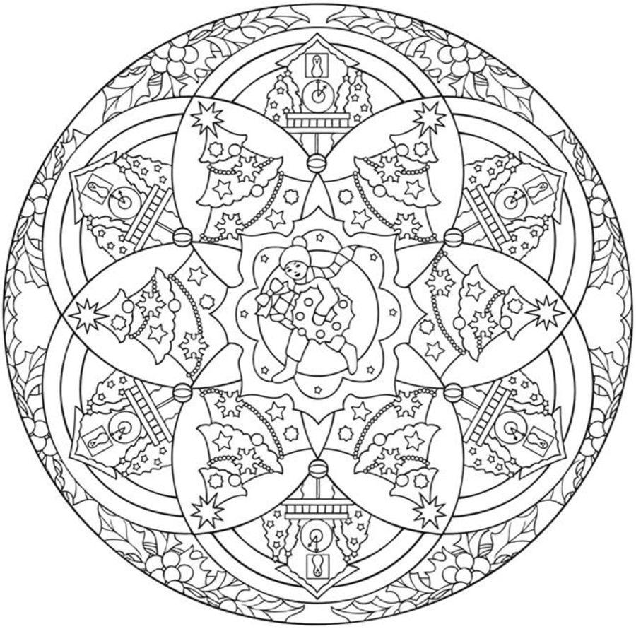 weihnachts mandalas zum ausdrucken kostenlos