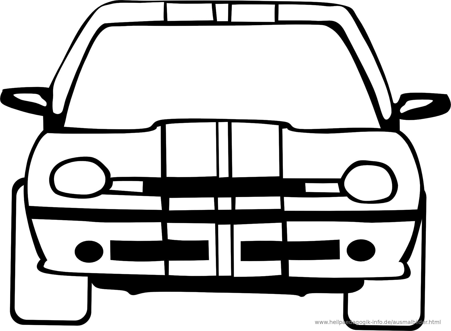 Ausmalbilder Autos bestimmt für Malvorlage Auto Einfach