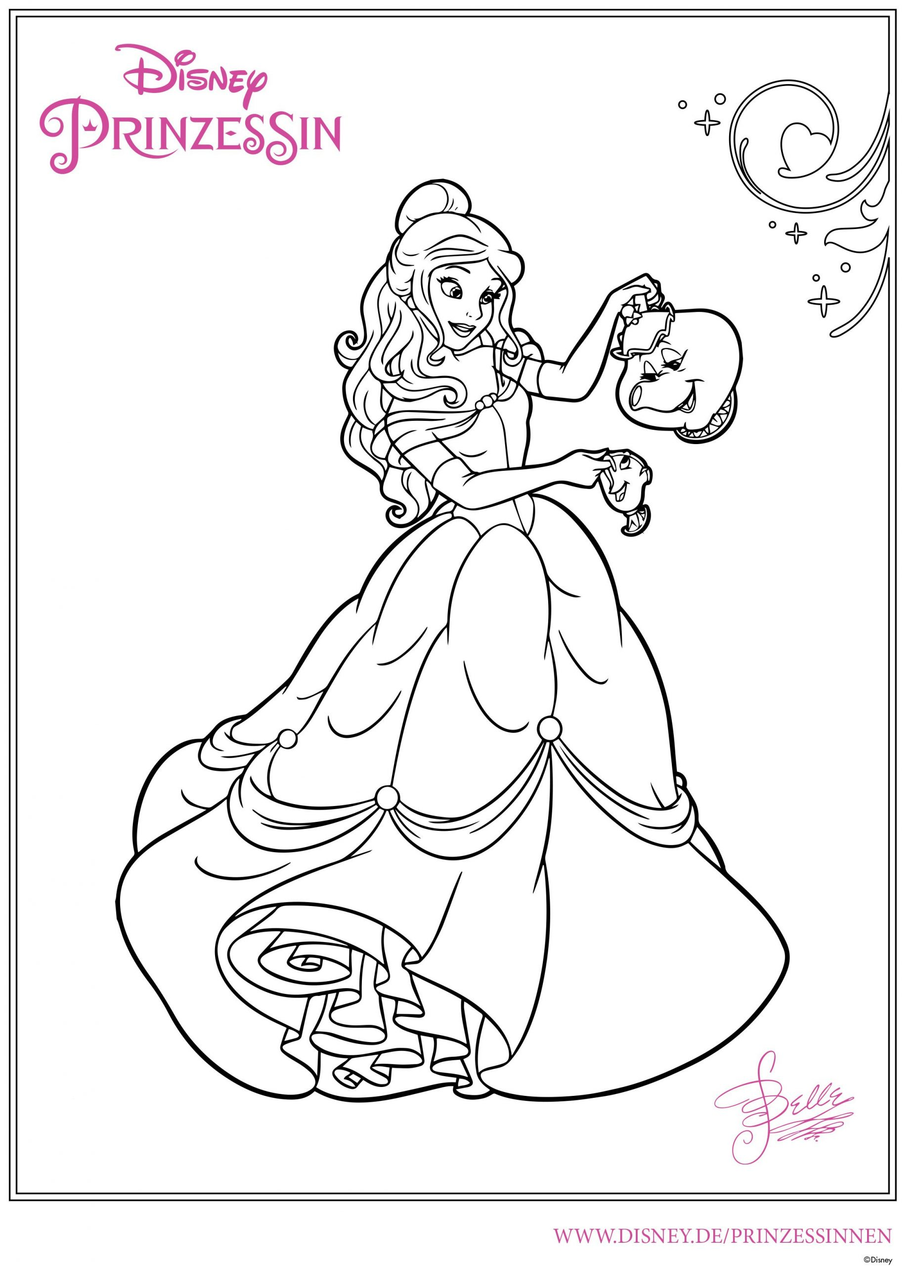 Ausmalbilder Belle 01 | Disney Malvorlagen, Ausmalbilder für Ausmalbilder Zum Drucken Disney